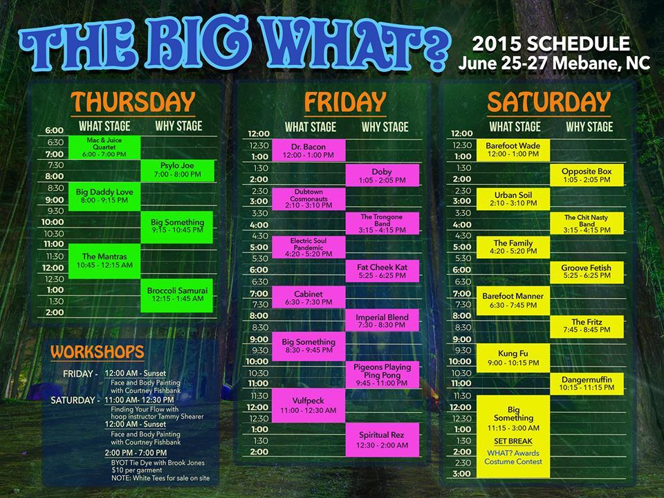 bw schedule