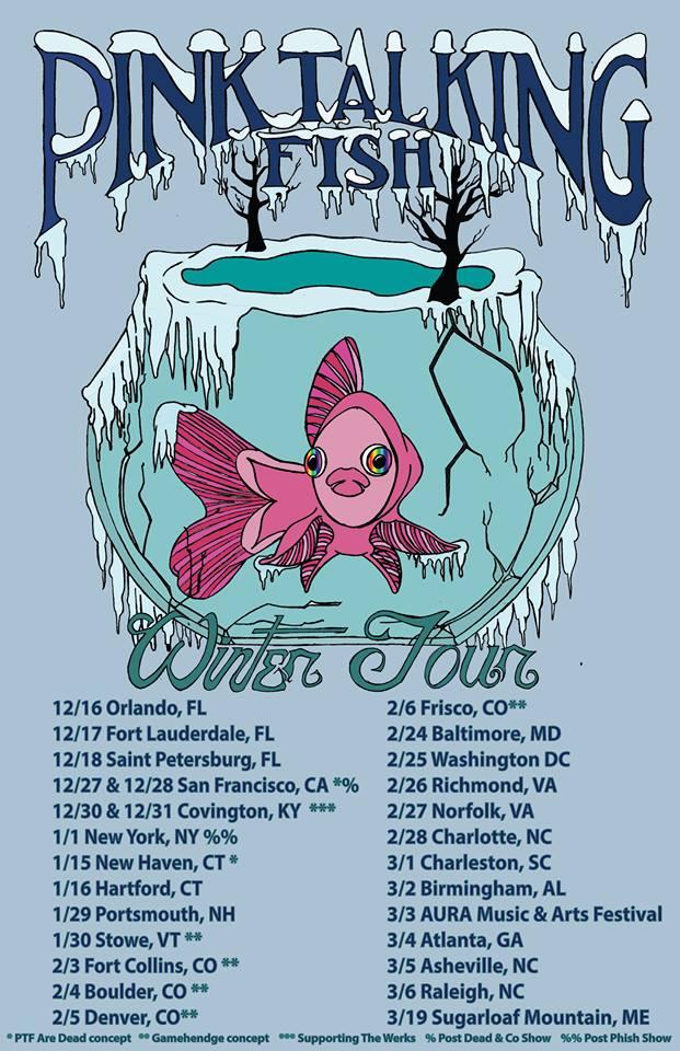 pink talking fish tour