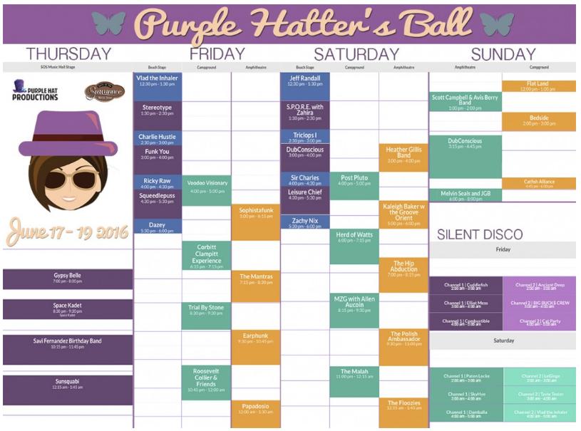 phb full schedule